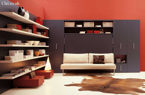 Adam Horisontal Wall Bed Unit Can Be Fronted With A Sofa