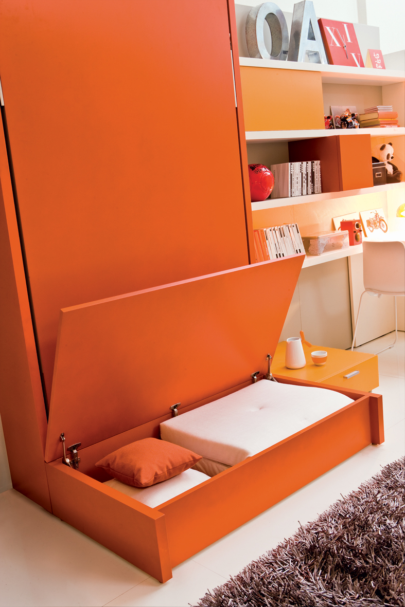Altea realx with sofa single vertical wall bed system for Clei wall bed