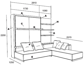 Metal Bed Frames additionally Bunk Bed Dimensions besides Gotham Suite furthermore Revlon Hair Dye in addition More Modern Murphy Bed Designs From Old Creek Wall Bed Factory. on full sofa bed mattress