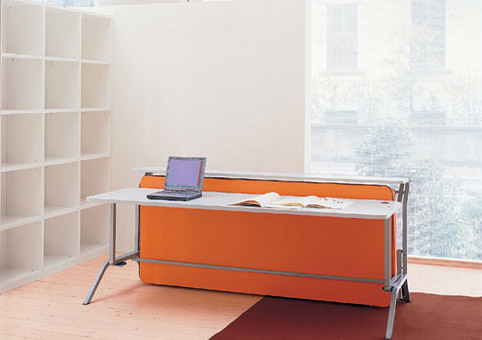 Cabrio Horisontal Collapsable Wall Bed With Home Office