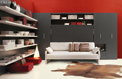 Circe wall bed | Clei wall beds London   Free standing horizontal