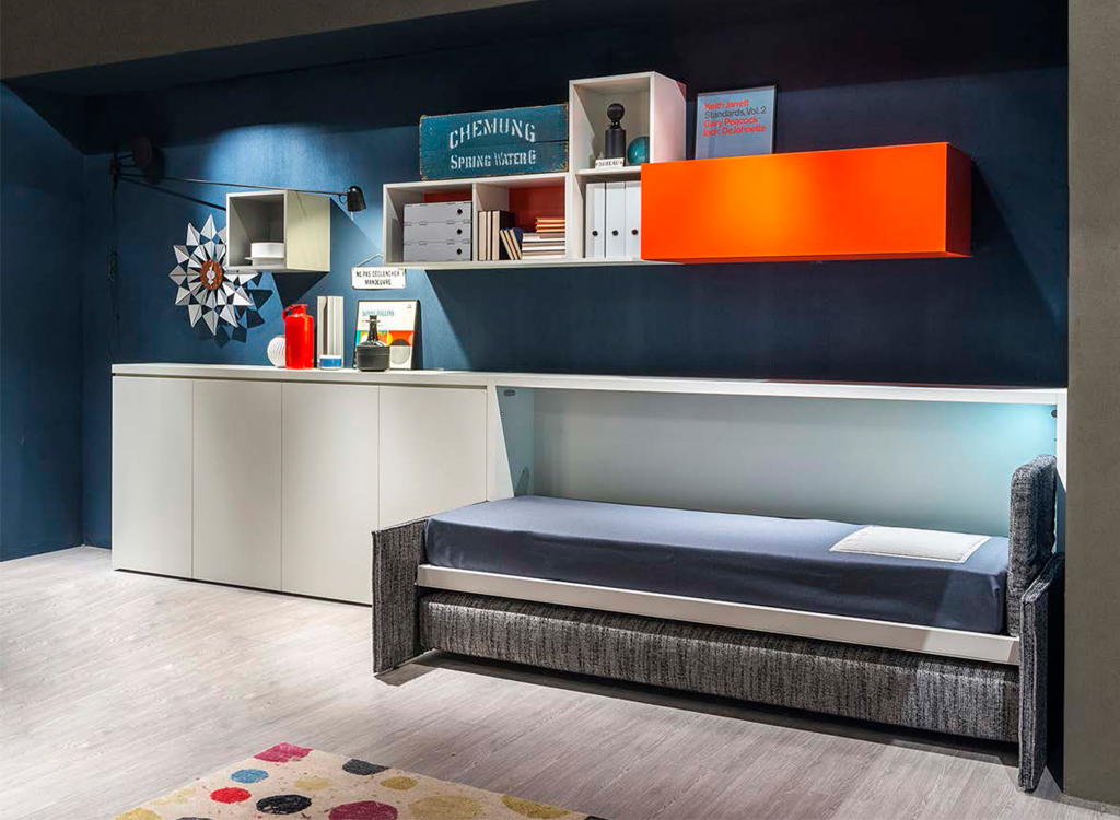 Kali sofa 90 and 120 single wall beds clei london uk for Clei wall bed