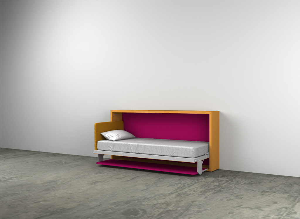 Kali board 90 and 120 single wall beds clei london uk for Clei wall bed