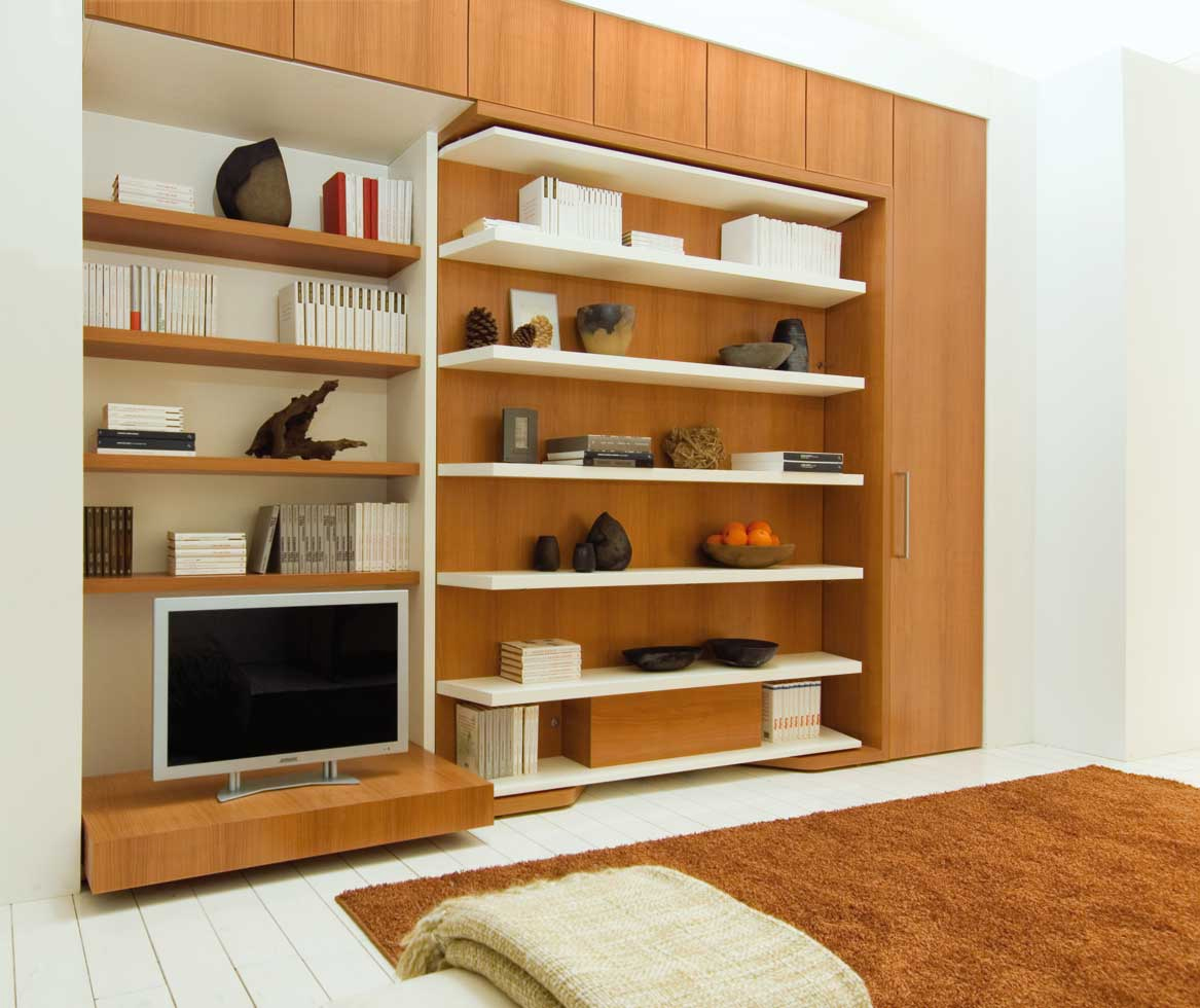 Lgm Swiviel Wall Bed Unit With Shelves And Optional Table