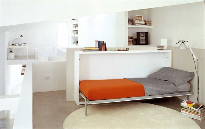 Poppi Horisontal Fold Away Wall Bed With Desk On Request