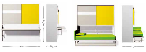 Study Desk Bed Clei Wall Beds London Poppi Board Wall Bed With