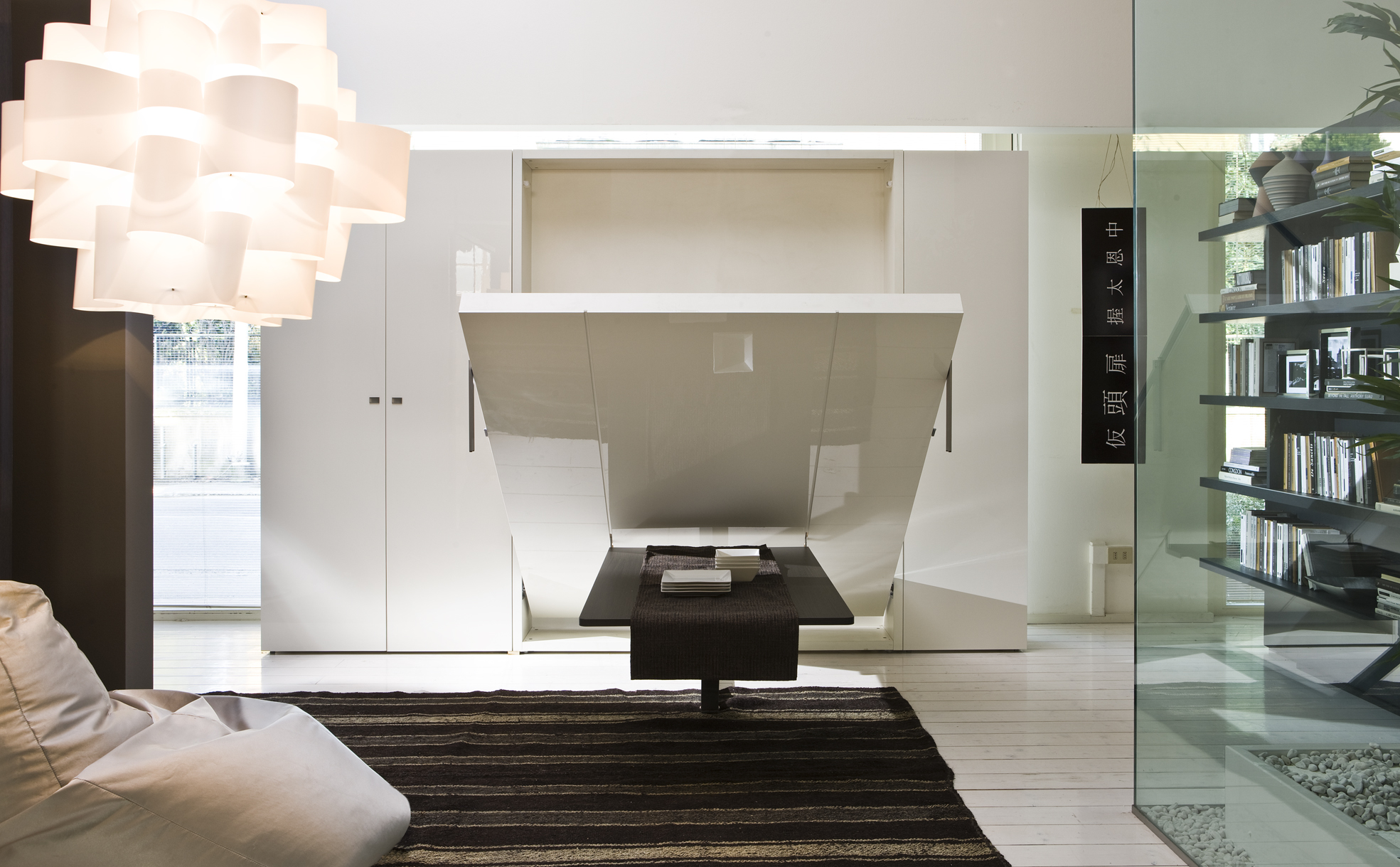 ulisse vertical collapsable wall bed system with table. Black Bedroom Furniture Sets. Home Design Ideas