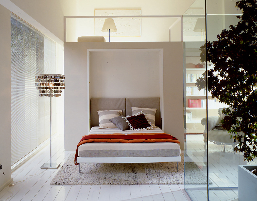 ulisse double  king size vertical wall bed system